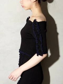 PAMEO POSE(パメオポーズ) |BI-COLLAR TRIMMED KNIT TOP 画像30