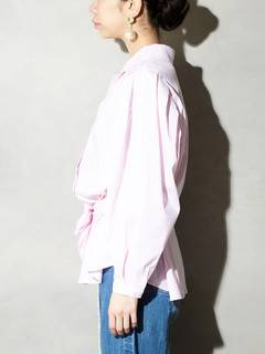 PAMEO POSE(パメオポーズ) |POWER SHOULDER STRIPE SHIRT 画像07