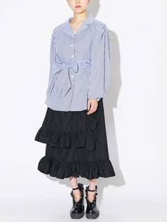 PAMEO POSE(パメオポーズ) |POWER SHOULDER STRIPE SHIRT 画像17