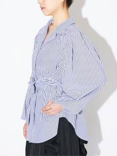 PAMEO POSE(パメオポーズ) |POWER SHOULDER STRIPE SHIRT 画像19