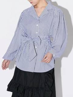 PAMEO POSE(パメオポーズ) |POWER SHOULDER STRIPE SHIRT 画像23