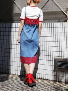 PAMEO POSE(パメオポーズ) |LACE TRIMMED DENIM CAMI DRESS 画像03
