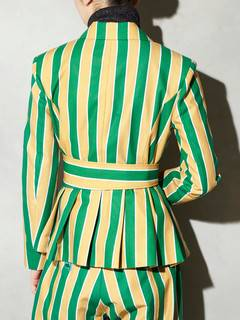 PAMEO POSE(パメオポーズ) |POWER SHOULDER JACKET STRIPE 画像06