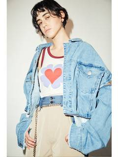 PAMEO POSE(パメオポーズ) |3 WAY BIG DENIM JACKET 画像07