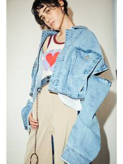 PAMEO POSE(パメオポーズ) |3 WAY BIG DENIM JACKET 画像09