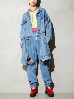 PAMEO POSE(パメオポーズ) |3 WAY BIG DENIM JACKET 画像15