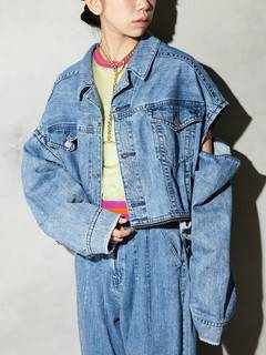 PAMEO POSE(パメオポーズ) |3 WAY BIG DENIM JACKET 画像20