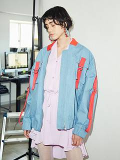 PAMEO POSE(パメオポーズ) |DENIM LINE BIG BLOUSON 画像06