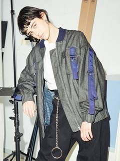 PAMEO POSE(パメオポーズ) |DENIM LINE BIG BLOUSON 画像11