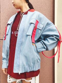 PAMEO POSE(パメオポーズ) |DENIM LINE BIG BLOUSON 画像12