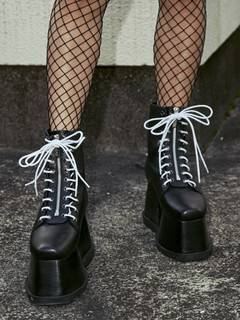 PAMEO POSE(パメオポーズ) |2WAY LACE UP BOOTS 画像01