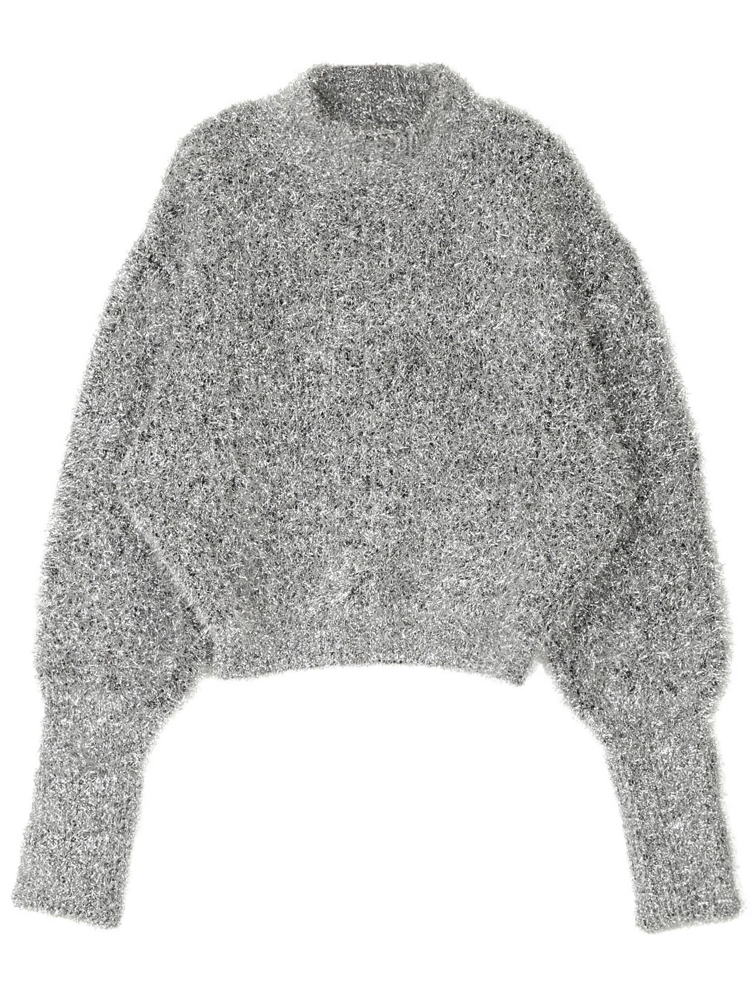 Glitter Shaggy Knit Top