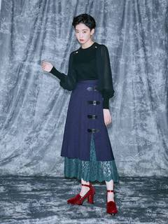 PAMEO POSE(パメオポーズ) |Layered Wrap Skirt 画像06