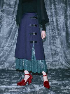 PAMEO POSE(パメオポーズ) |Layered Wrap Skirt 画像07