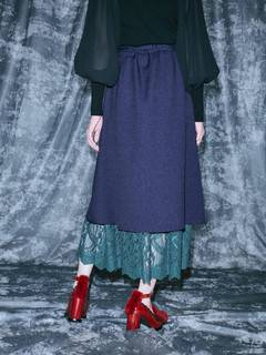 PAMEO POSE(パメオポーズ) |Layered Wrap Skirt 画像09