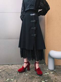 PAMEO POSE(パメオポーズ) |Layered Wrap Skirt 画像11