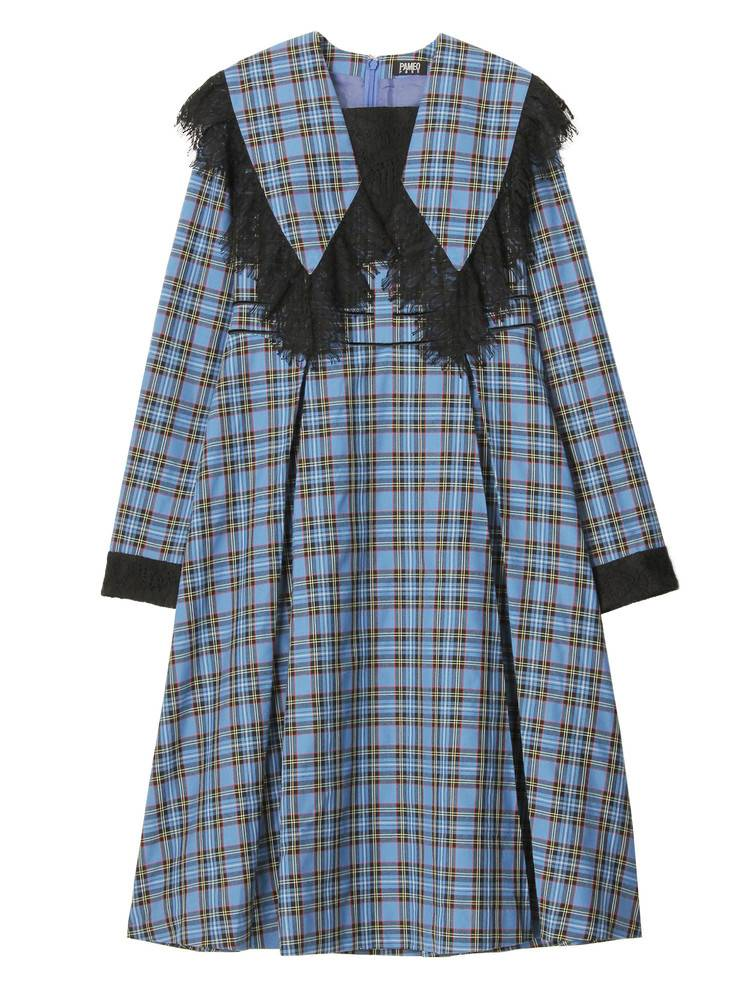 Big Collar Plaid Dress