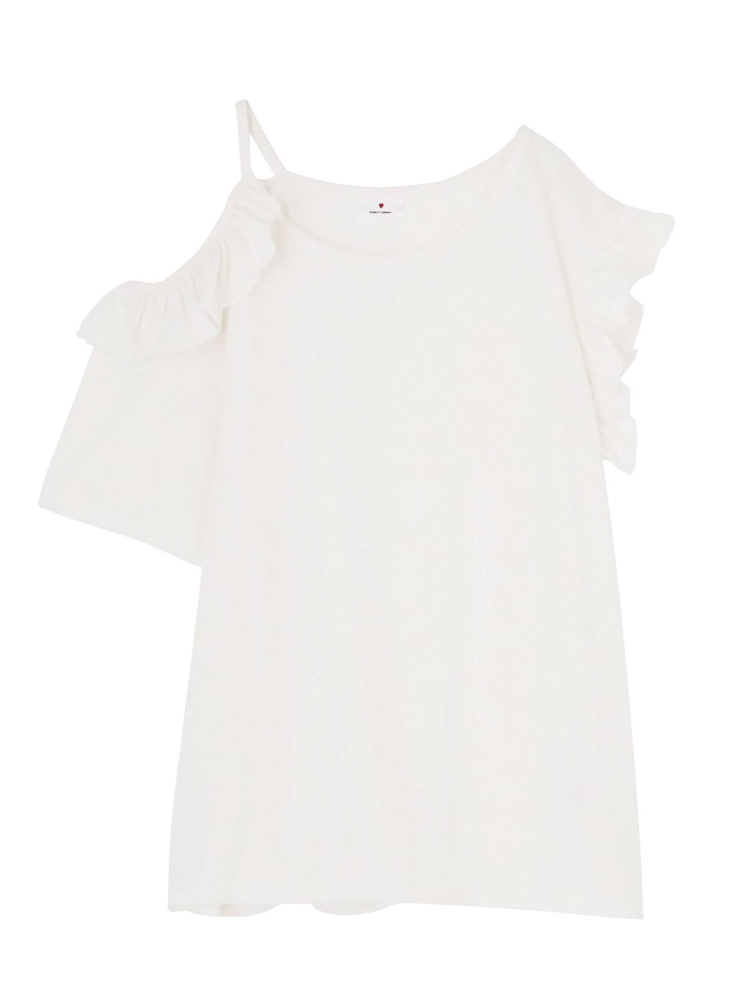 Asymmetric shoulder Aki Ruffle Tee