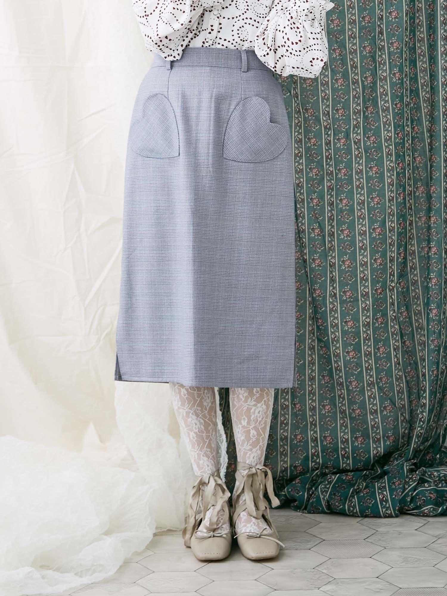 心臟口袋鉛筆裙