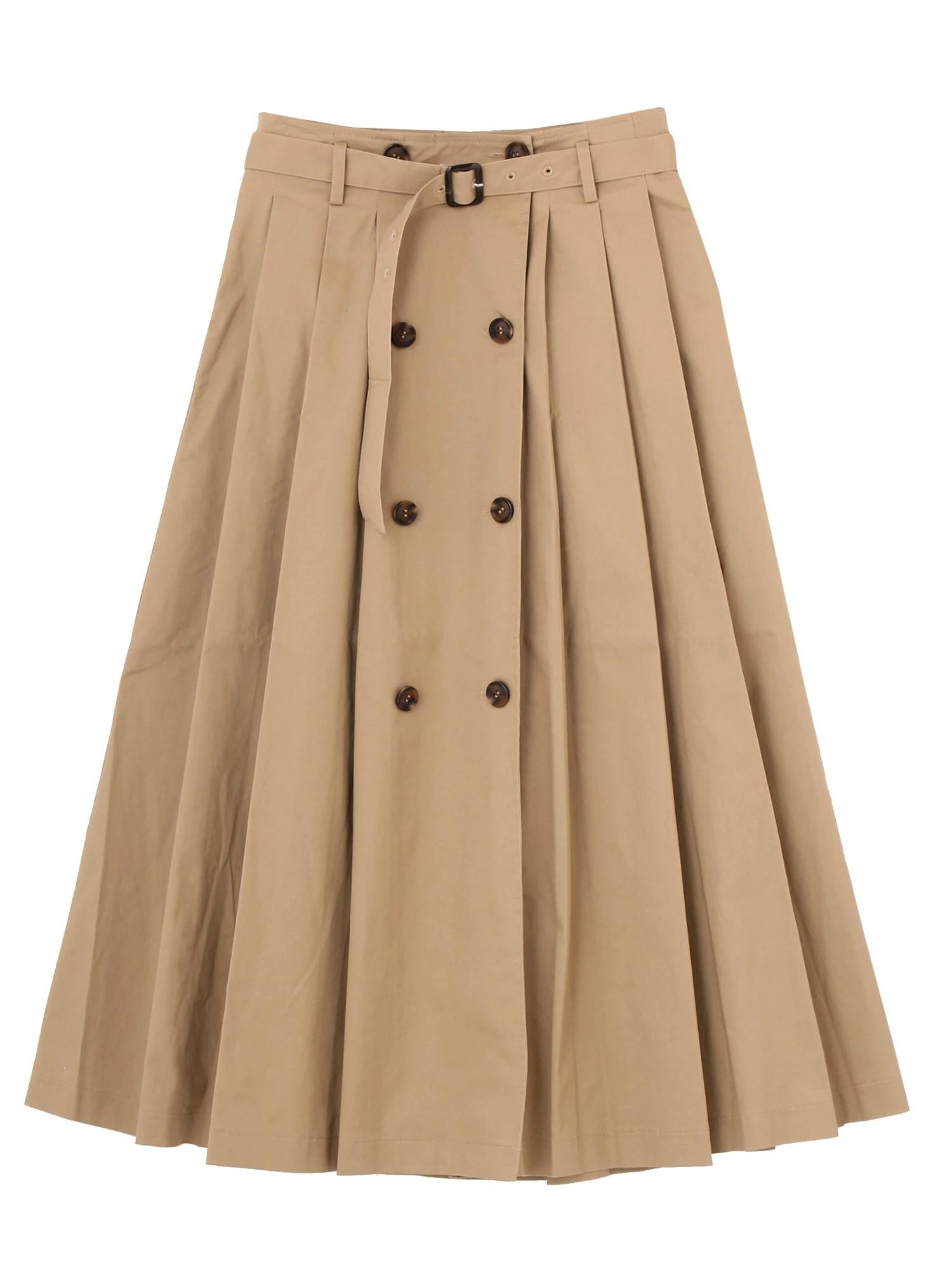 Pleated skirt trench