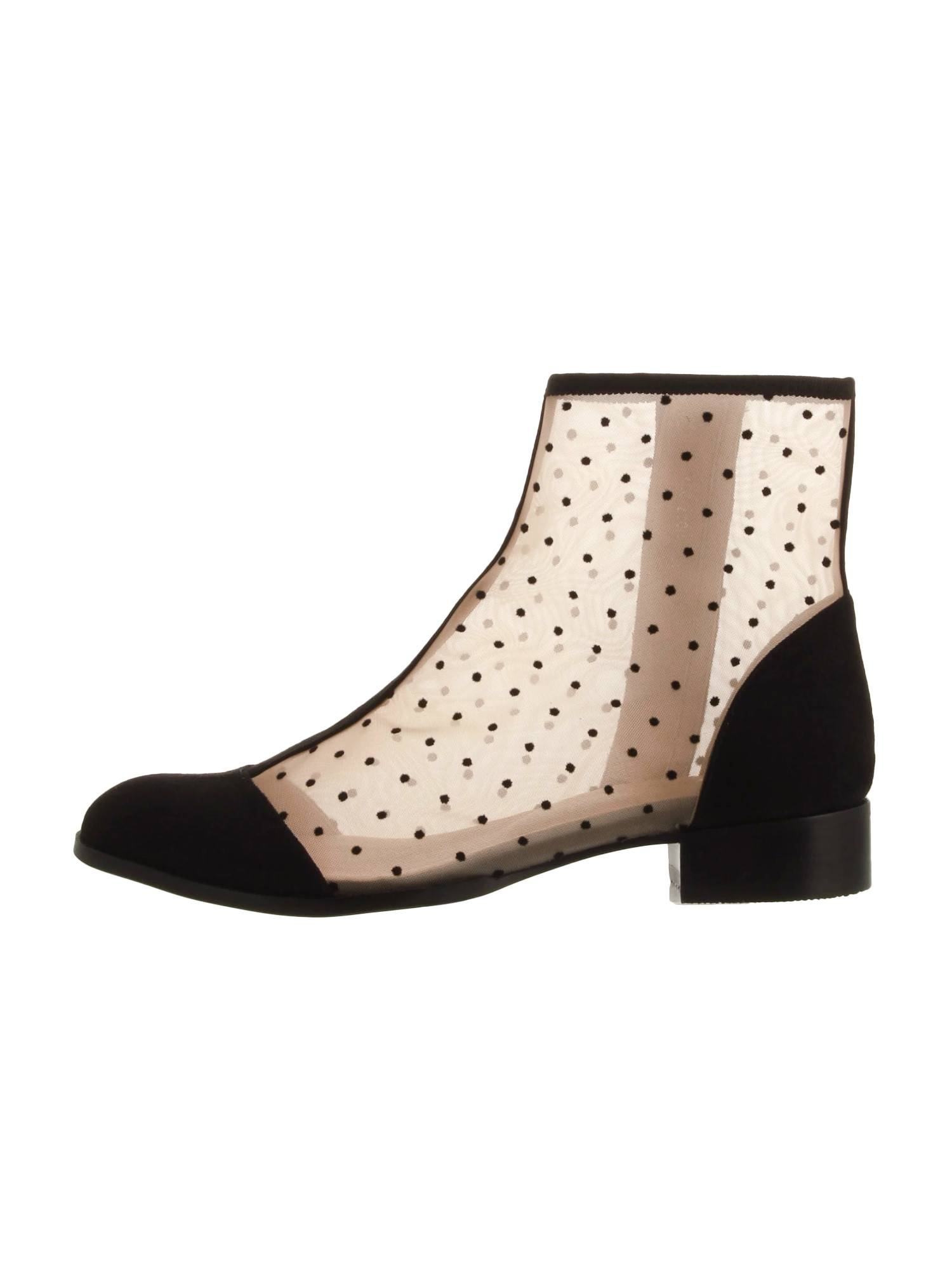 Dot tulle short boots