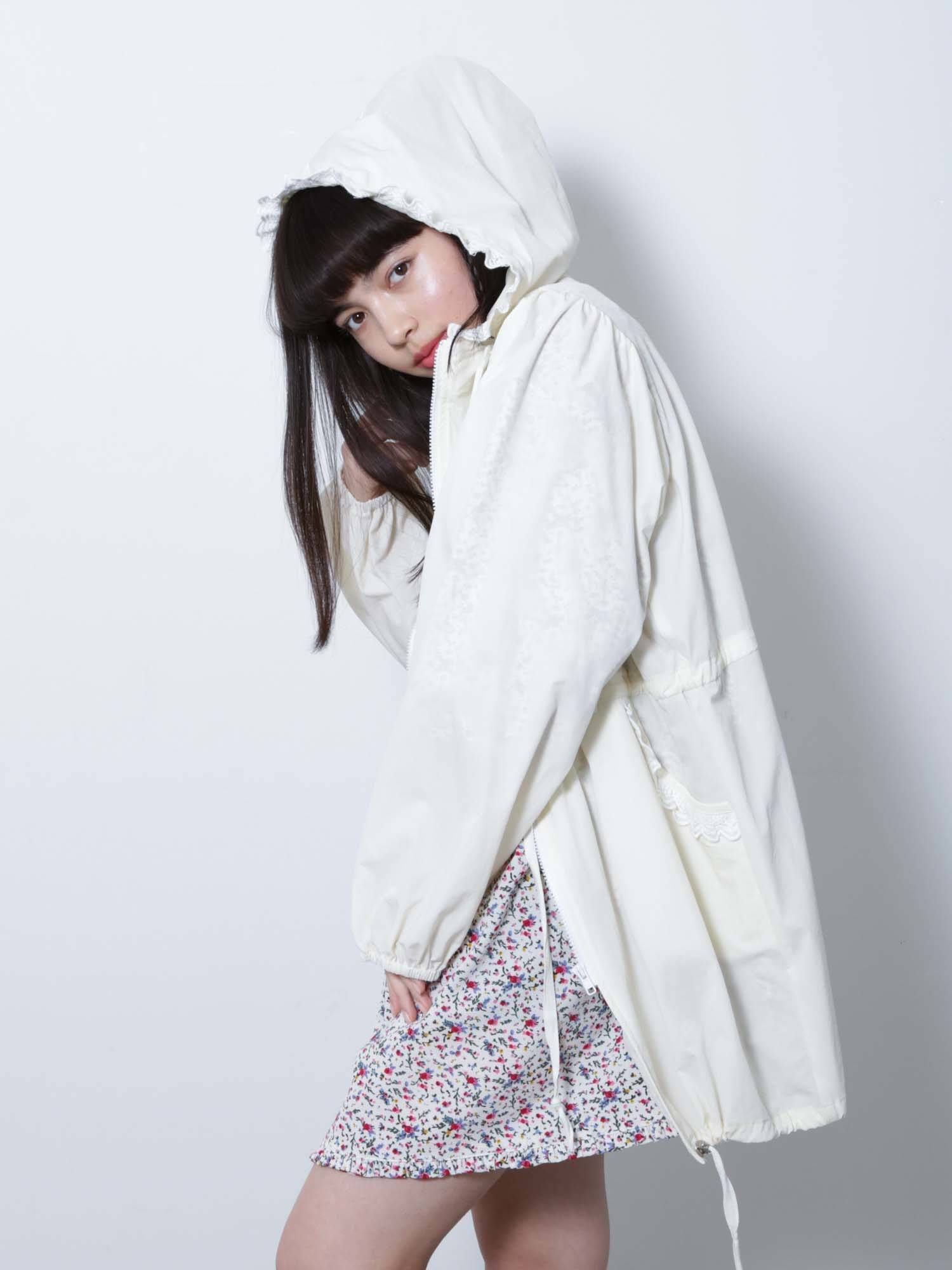 Frills nylon jacket