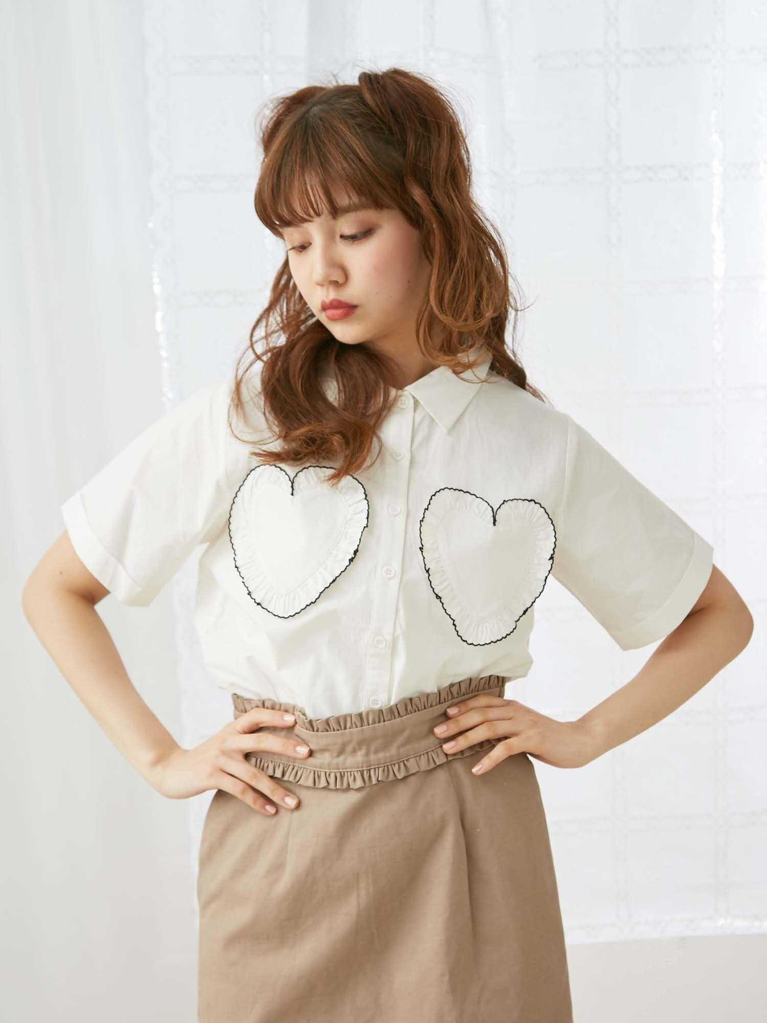 心臟圓潤口袋襯衫