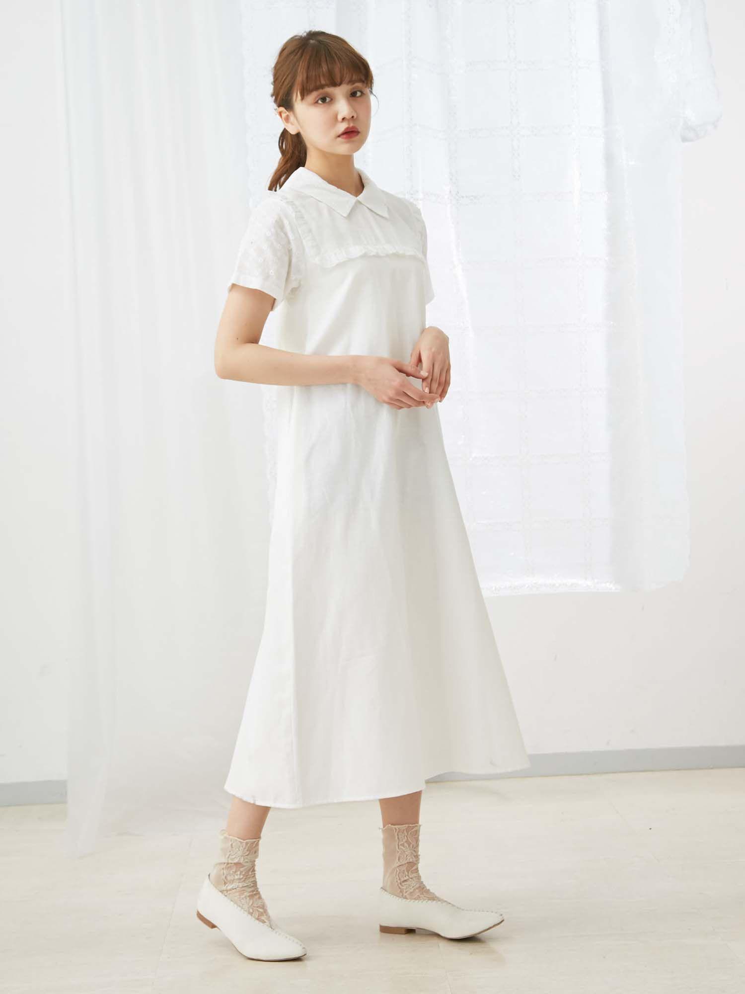 全棉花邊長裙