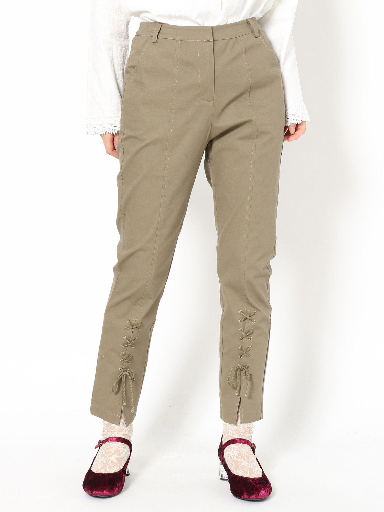 佩蒂特系带裤