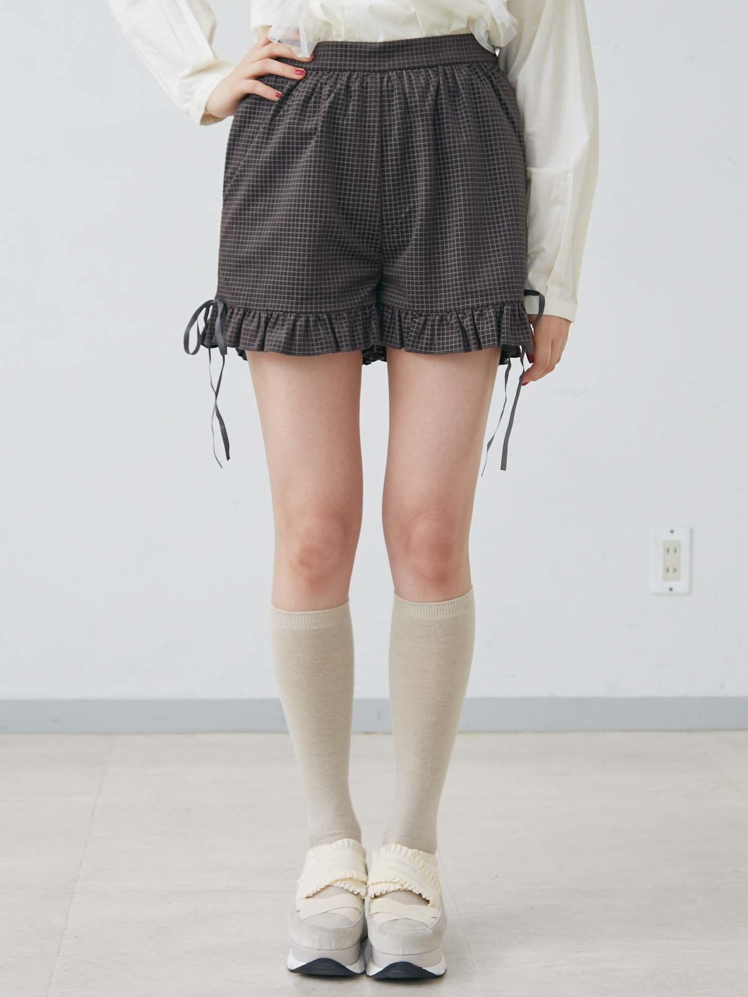 检查天鹅绒短裤