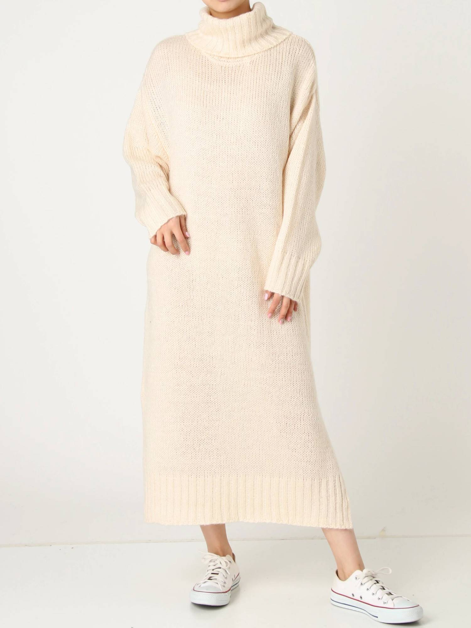 Brushed off Turtle Knit Dress