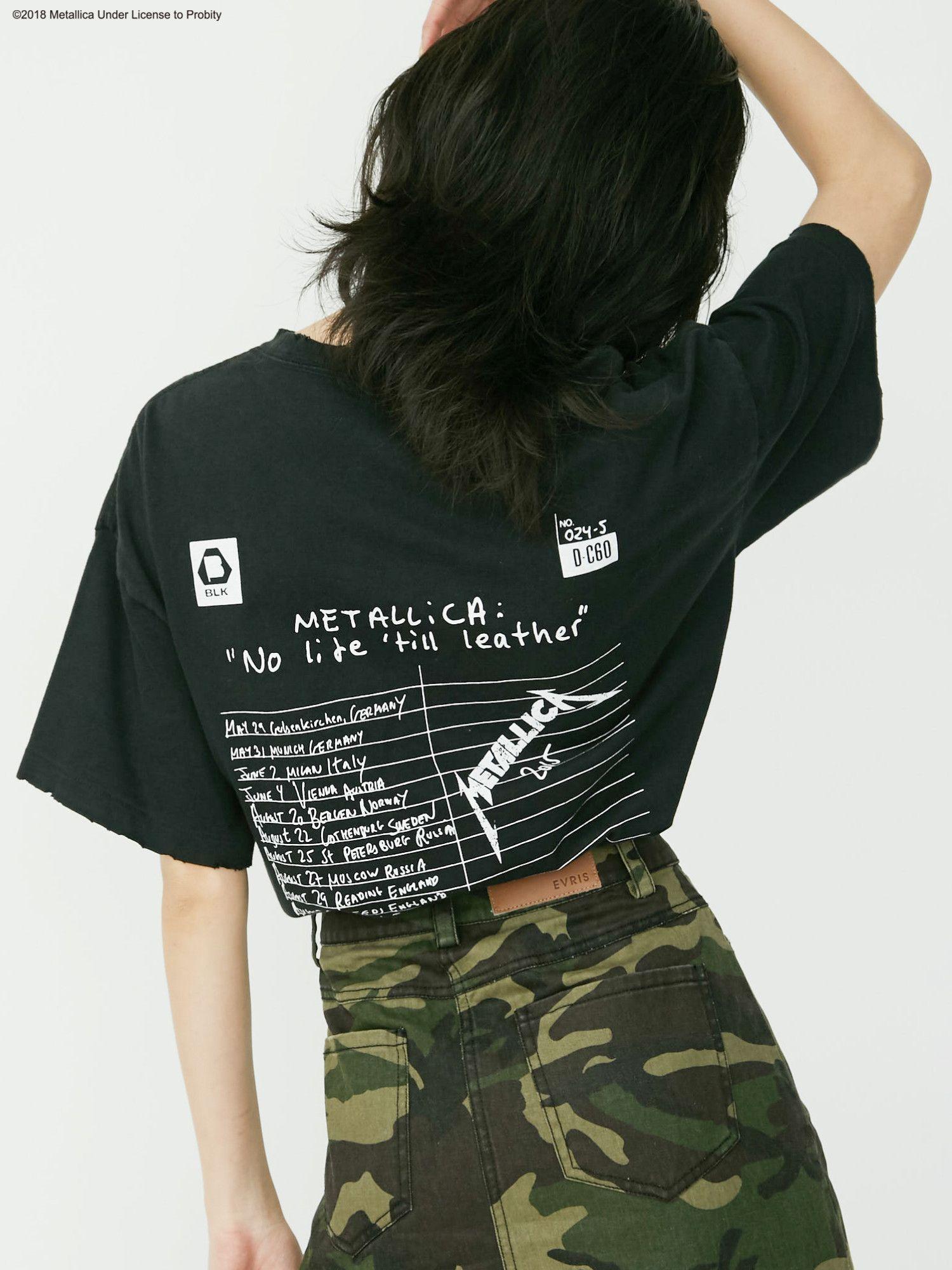 [EVRIS×METALLICA] BACK标识短衫