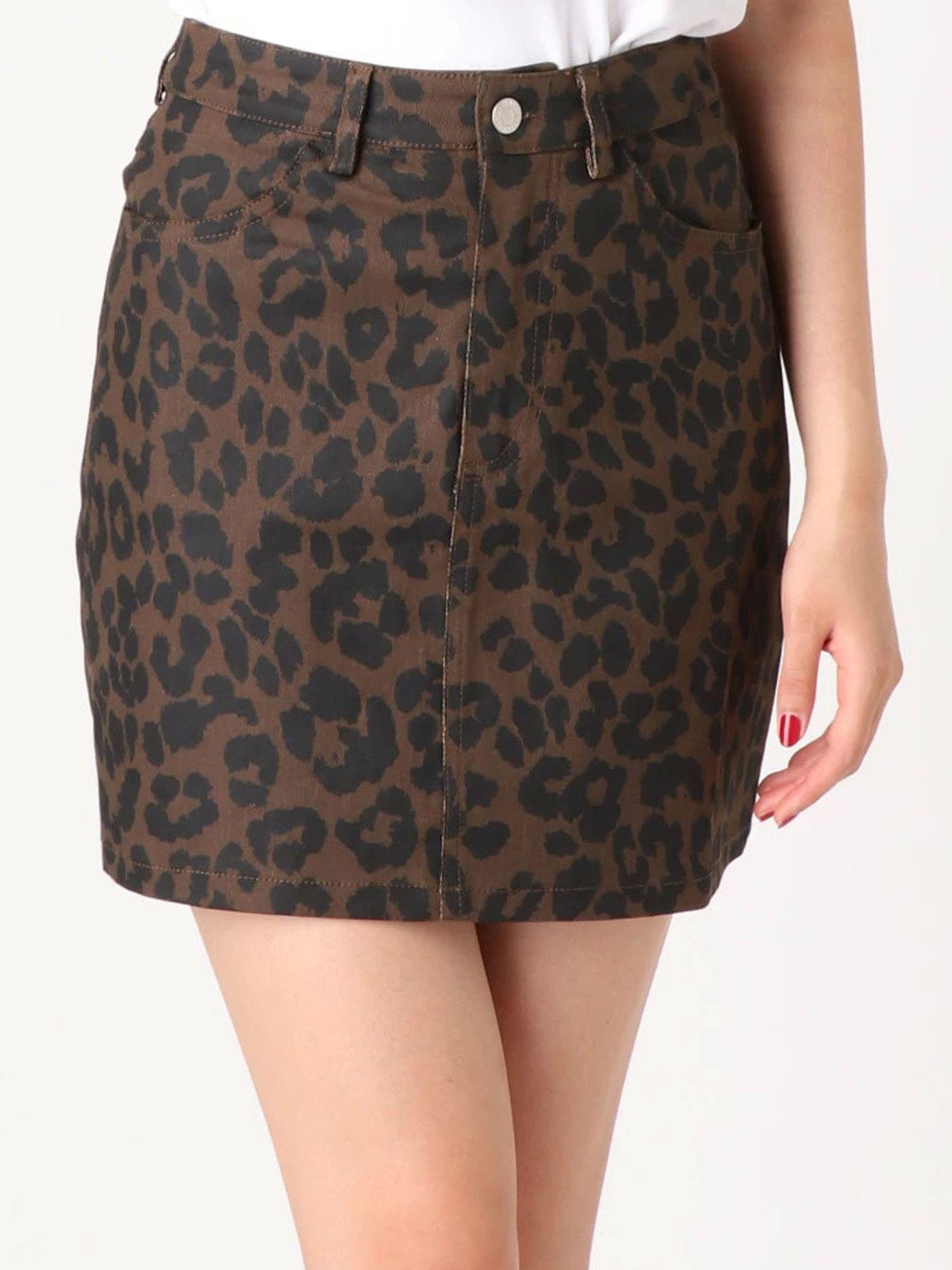 Basic twill mini skirt