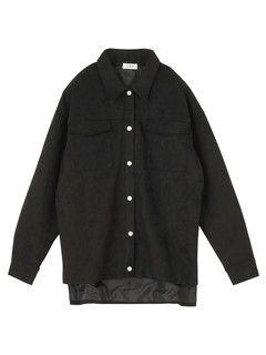 EVRIS フェイクスウェードシャツジャケット