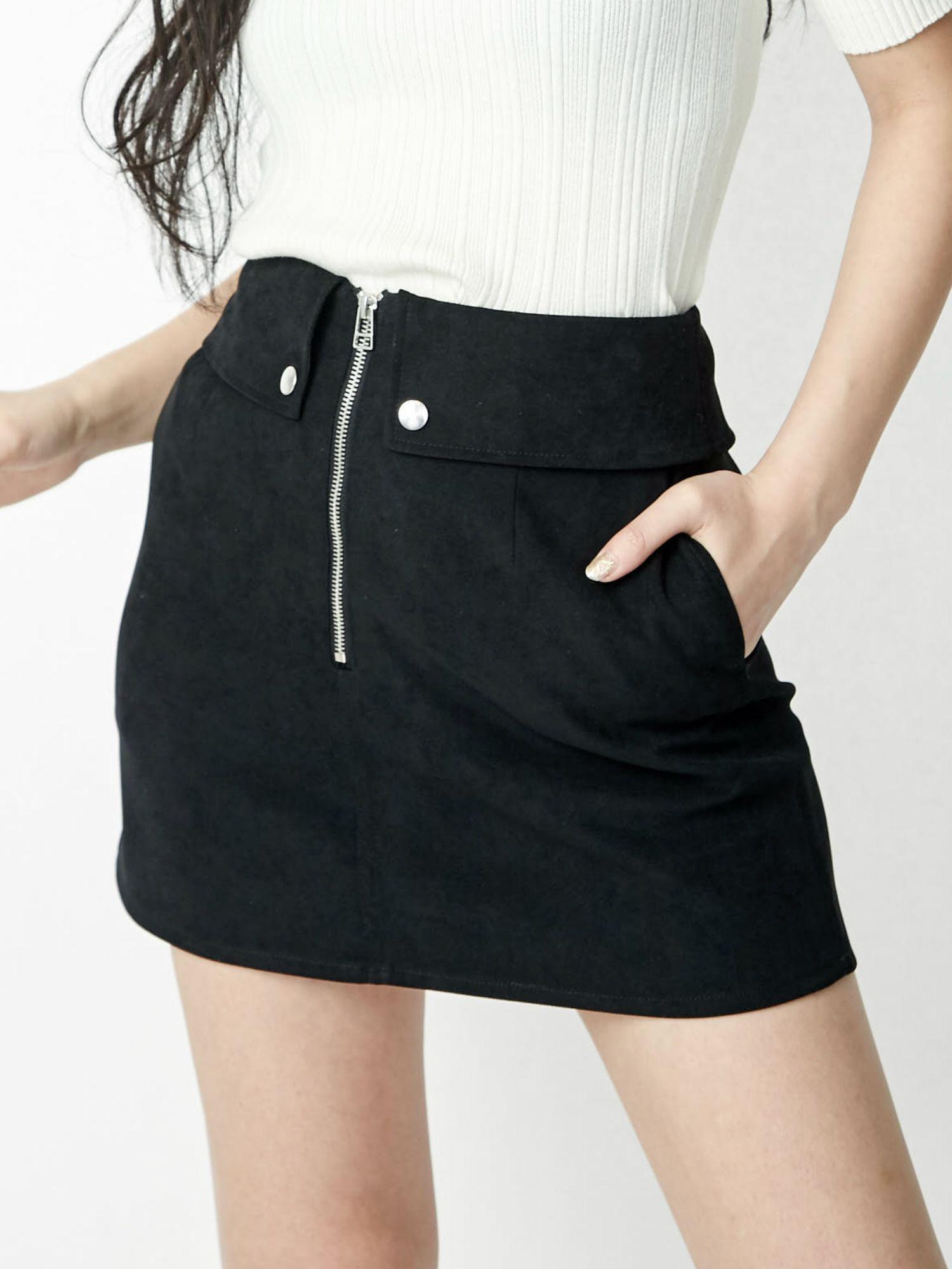 Front ZIP mini skirt