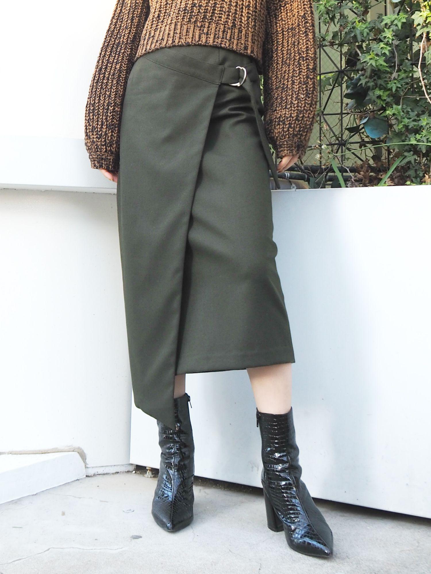 ラップタイトミディスカート