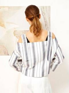 ELENDEEK(エレンディーク) |SHOULDER SASH STRIPE BLOUSE 画像04