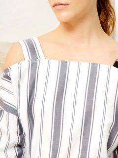 ELENDEEK(エレンディーク) |SHOULDER SASH STRIPE BLOUSE 画像05