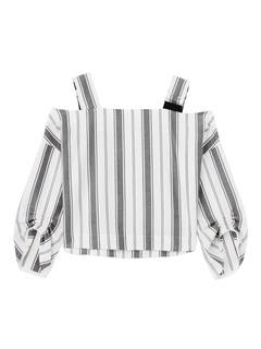ELENDEEK(エレンディーク) |SHOULDER SASH STRIPE BLOUSE 画像06