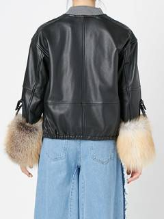 ELENDEEK(エレンディーク) |V NECK LEATHER FUR BLOUSON 画像13