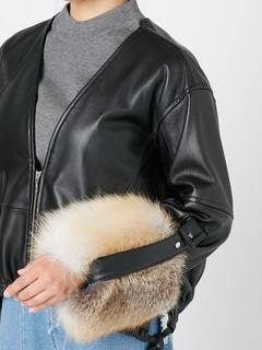 ELENDEEK(エレンディーク) |V NECK LEATHER FUR BLOUSON 画像15