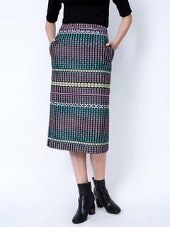 ELENDEEK(エレンディーク) |COLOR JACQUARD NARROW SKIRT 画像03