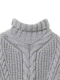 ELENDEEK(エレンディーク) |BIAS CABLE TURTLE KNIT 画像09