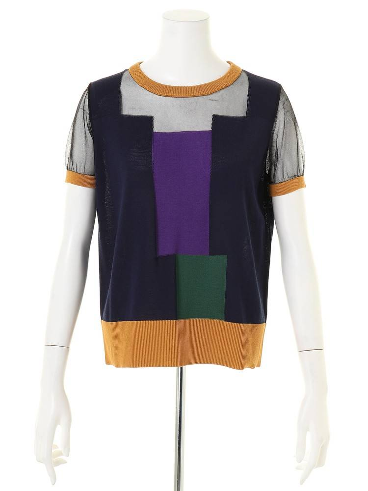 UN3D. / COLOR BLOCK KT TOP
