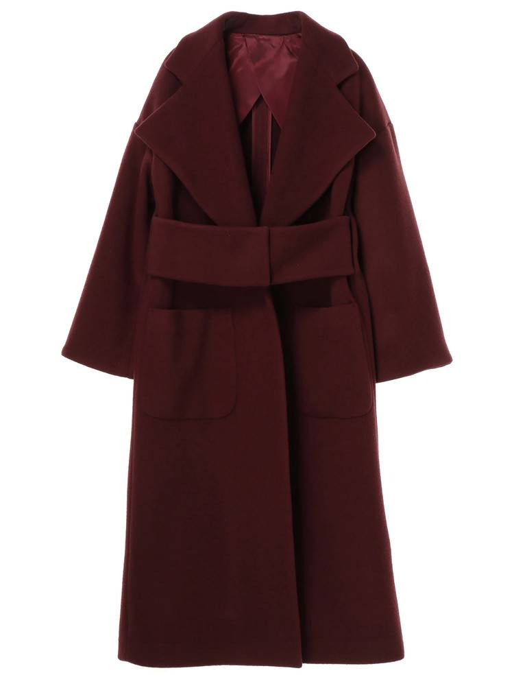 WIDE BELT GOWN COAT