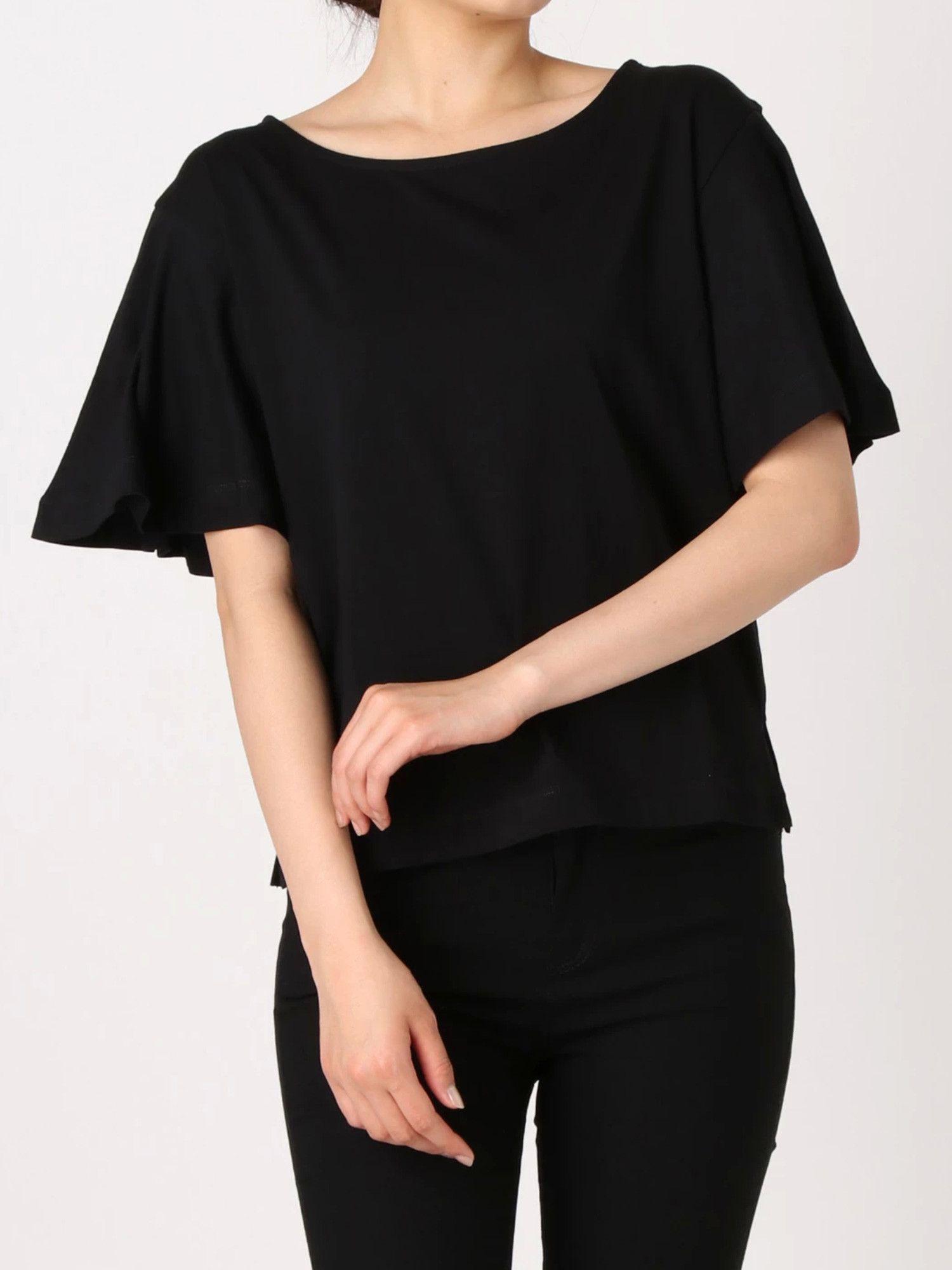 [妇女]美棉套管耀斑上衣