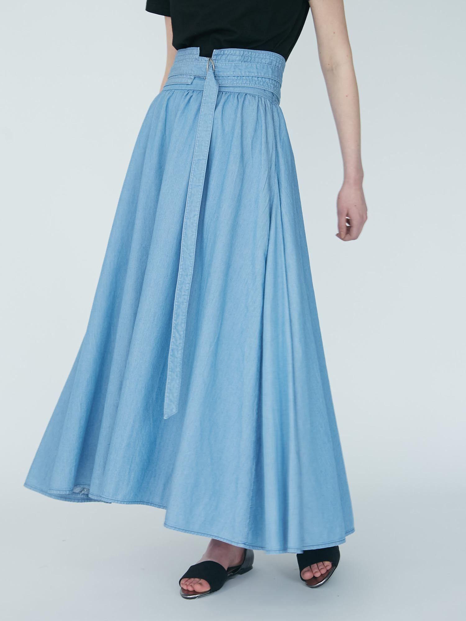Indigo long skirt