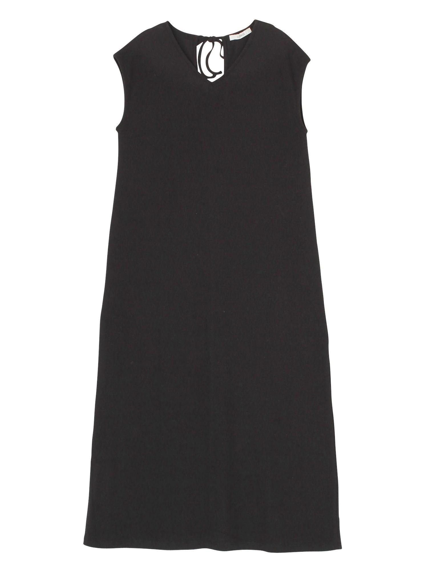 Thermal V-neck dress