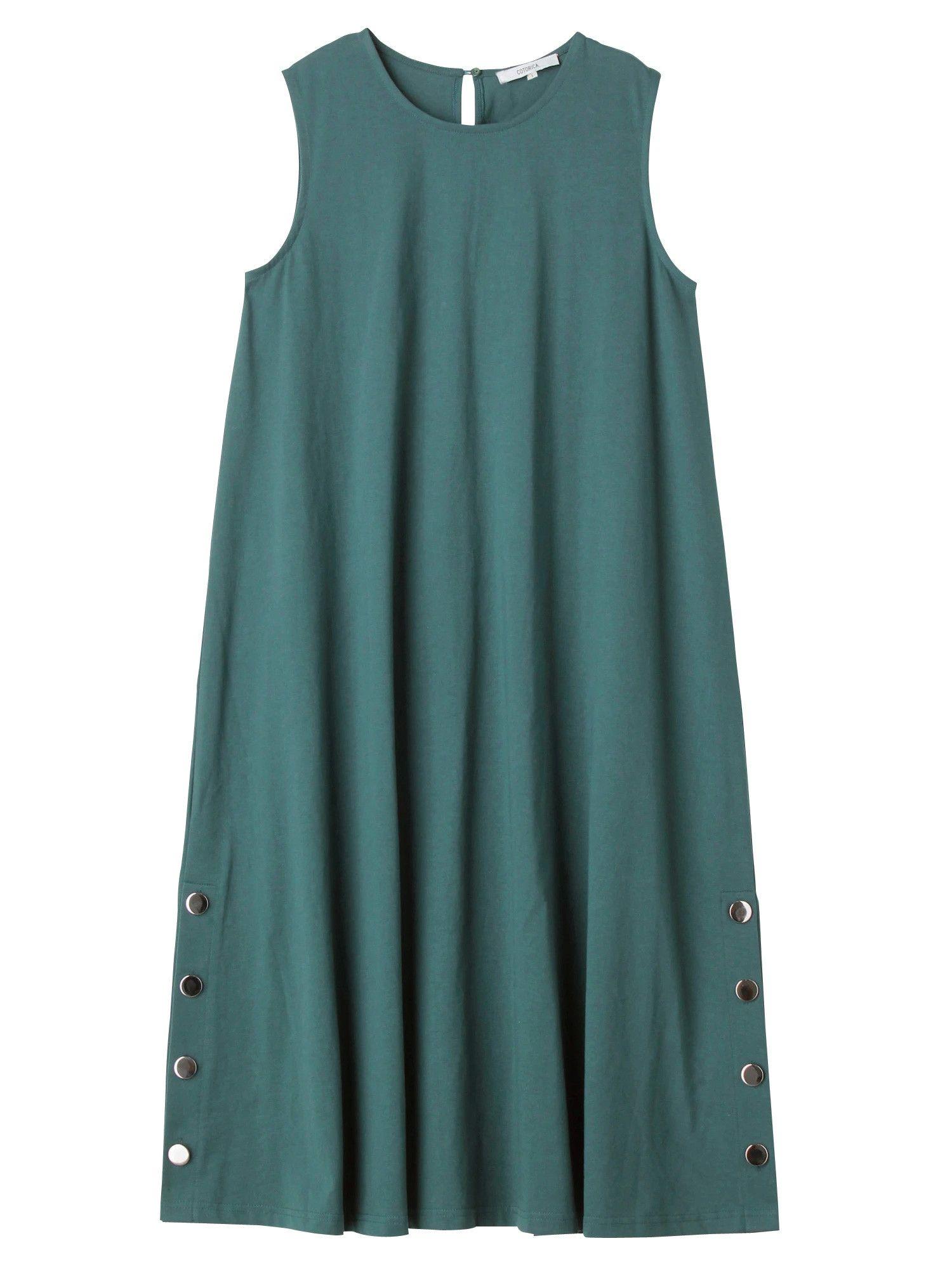Silver button Long Dress