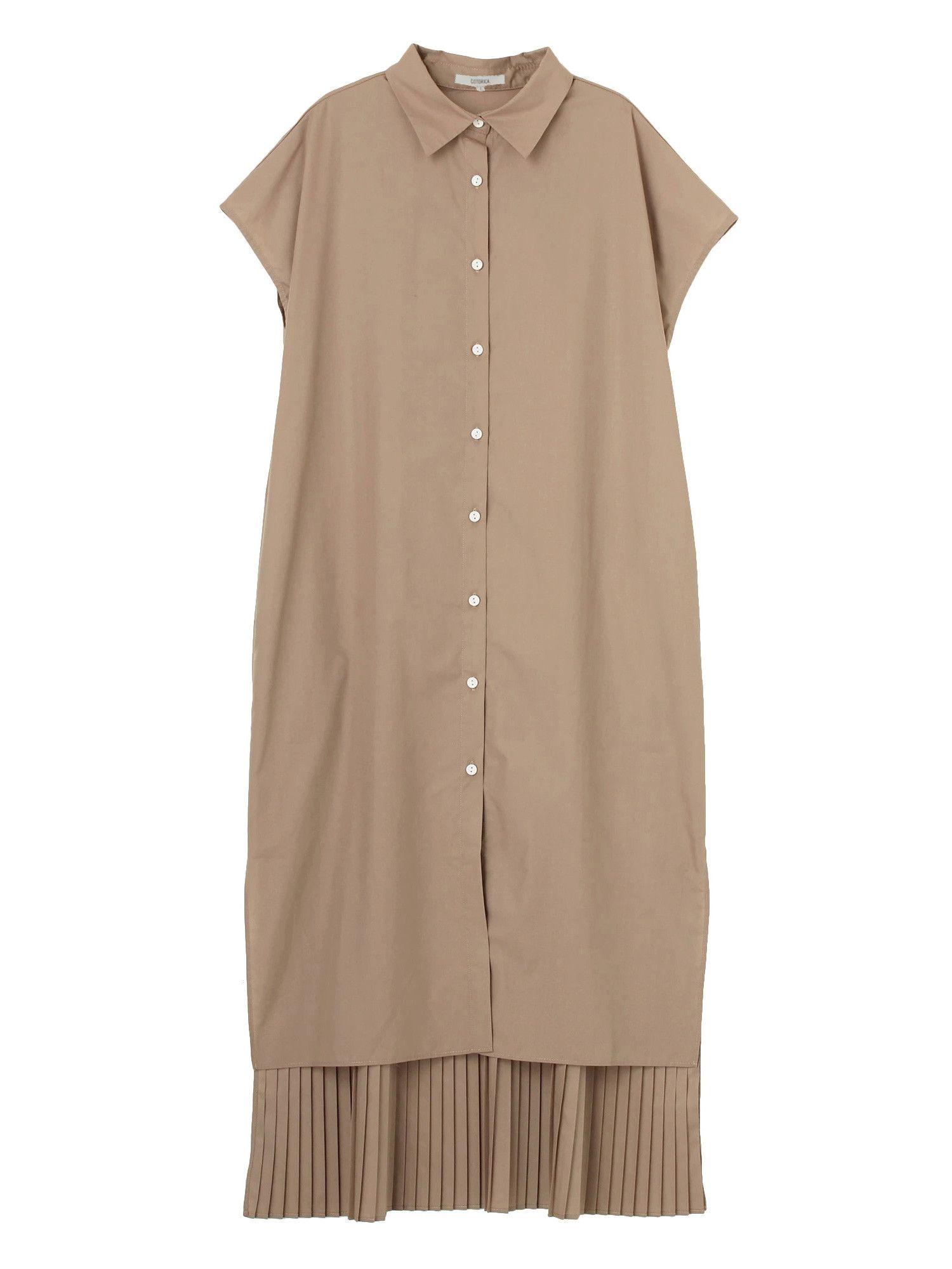 法國套BACK百褶連衣裙
